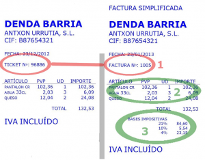 Ticket y factura simplificada